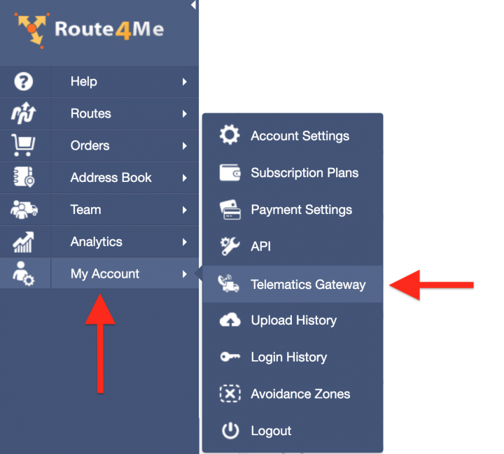 Route4Me's Telematics Integration with RASTRAC