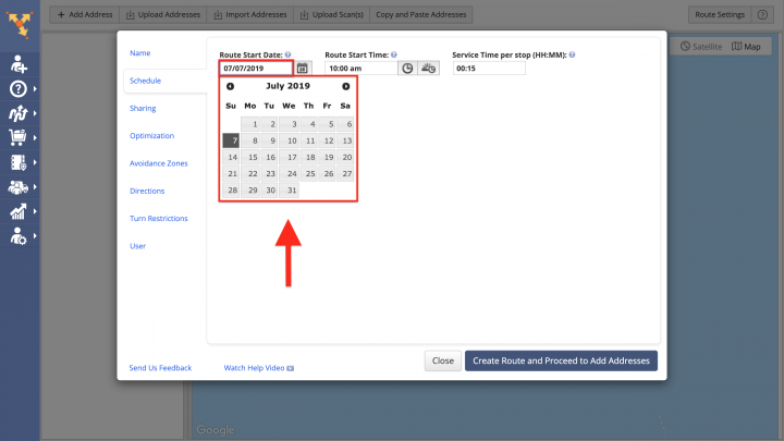 Scheduling and Rescheduling Routes