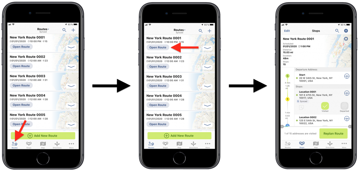 Route4Me Field Operations - Adding Notes to Route Stops Using Route4Me's iPhone Route Planner