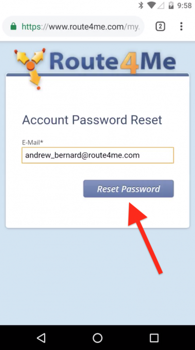 Setting Up and Logging into Route4Me Account on an Android Device