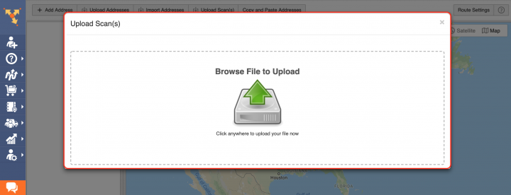 Upload Scan - Planning Routes by Uploading Scanned Documents