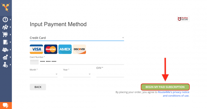 Updating Your Billing Information and Payment Method