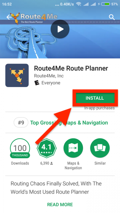 Downloading and Installing Route4Me's Android App
