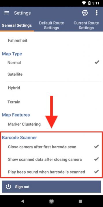 Using Route4Me's Barcode Scanner on an Android Device