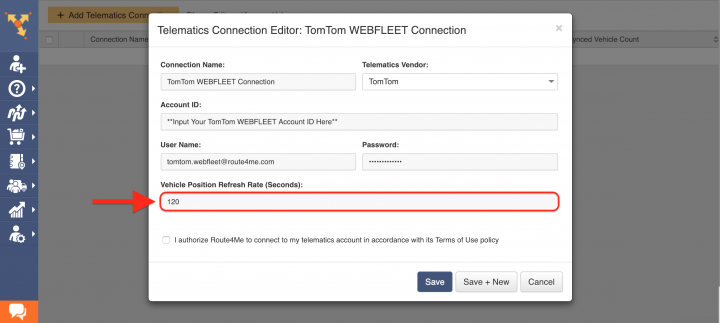 Route4Me's Telematics Integration with TomTom WEBFLEET