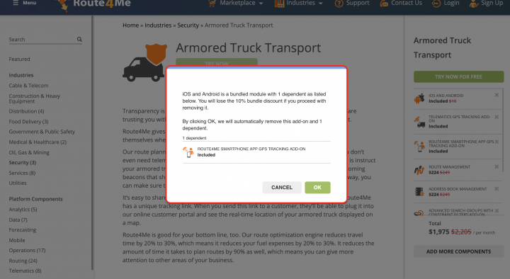 Customizing Your Subscription and Creating a New Route4Me Web Account
