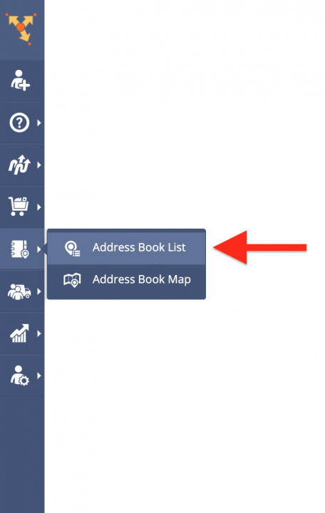 Exporting and Copying Contacts from the Address Book List