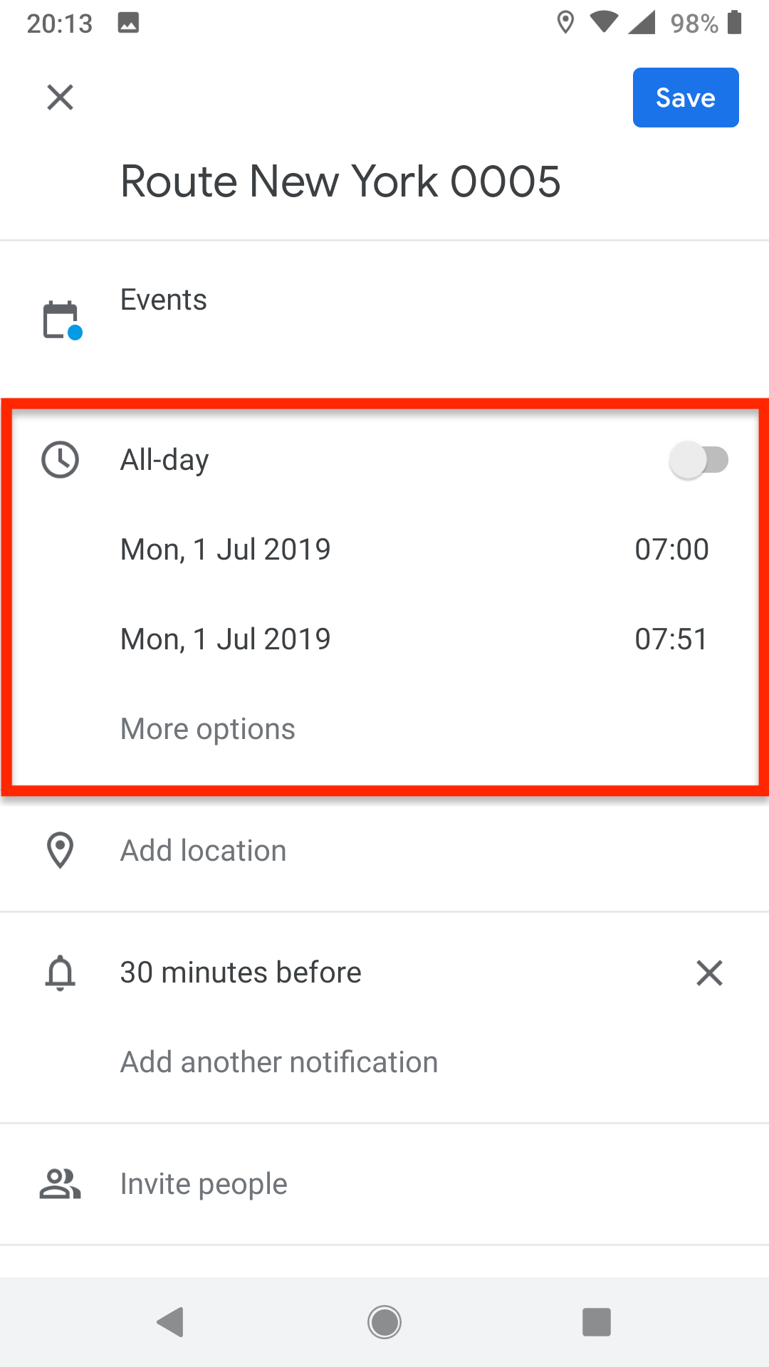 Add To Calendar adding routes to third-party calendar apps on your android