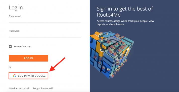Creating a New Route4Me Web Account