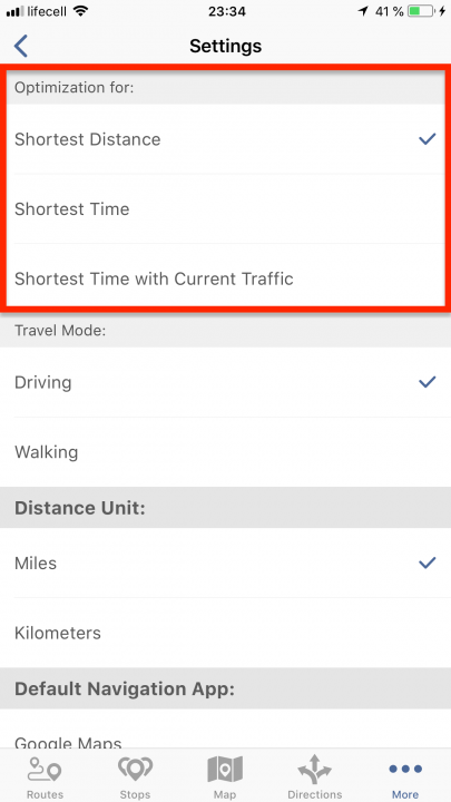 Using Advanced Route Planning Features on an iPhone