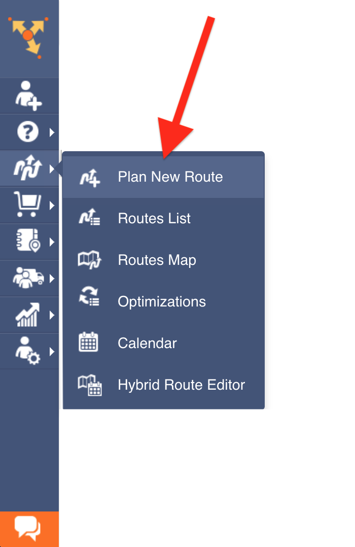 """Showing how to go to the """"Routes"""" tab in the navigation menu of Route4Me route planner"""