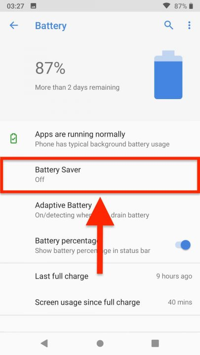 Route4Me Android App Average Battery Consumption and Power Saver Mode