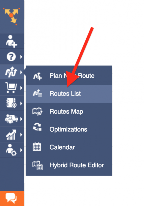 Inserting Addresses into a Route From the Route Editor