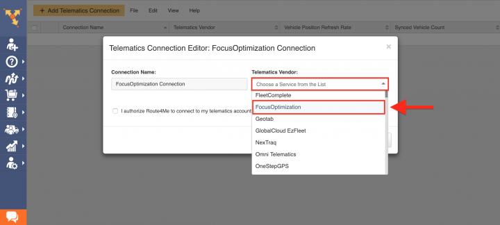 Route4Me's Telematics Integration with FOCUS (FocusOptimization)