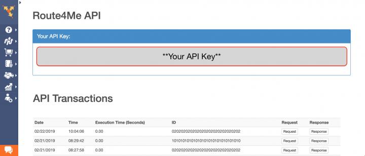 Retrieving Your Route4Me API Key