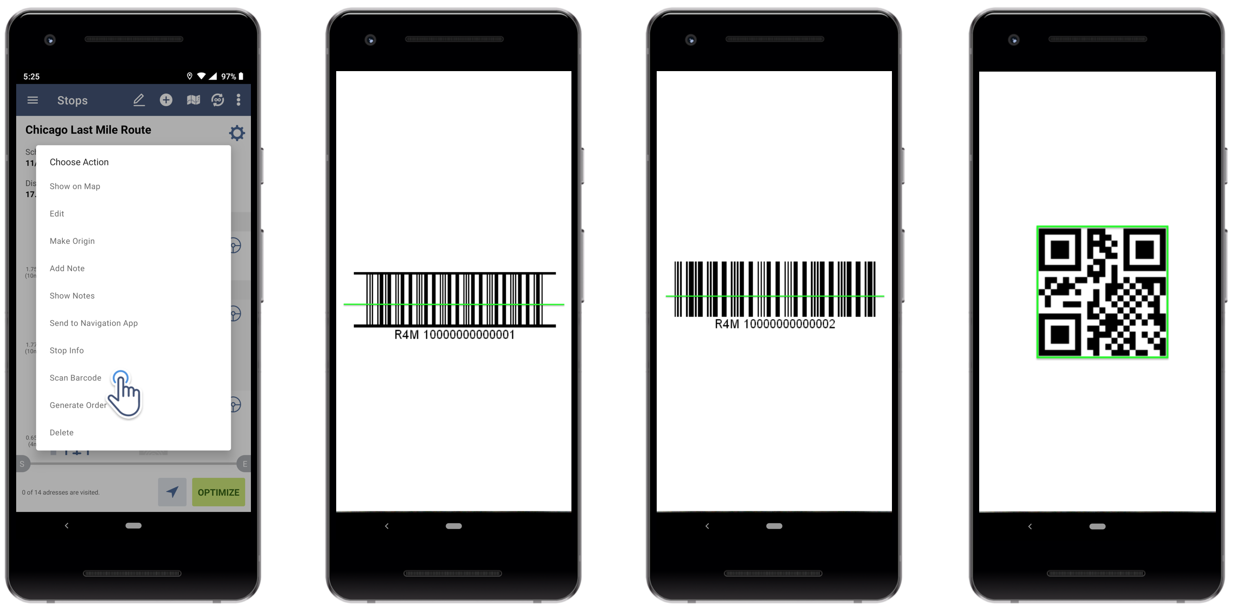 Track Delivery Stage On Barcode Scanner Route Planner App