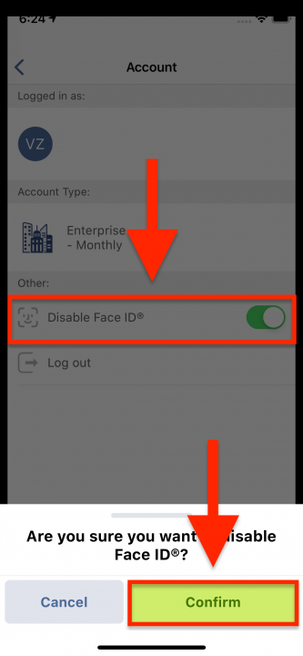 Using Face ID for Logging into Your Route4Me Account