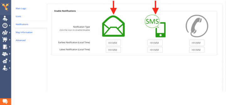 Enabling E-Mail, SMS and Voice Call Notifications
