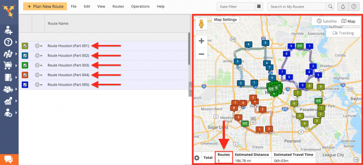 Planning Routes with Pieces Advanced Constraint Add-On