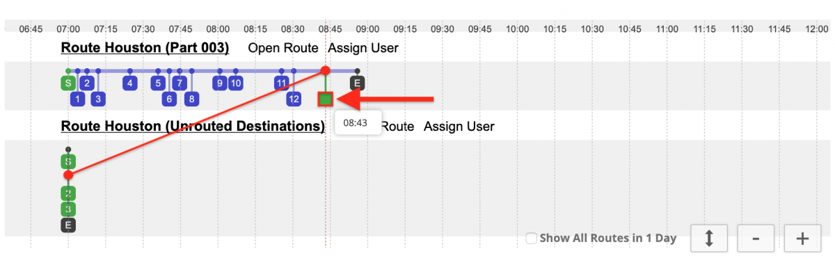 Planning Routes with Dynamic Service Times Advanced Constraint Add-On