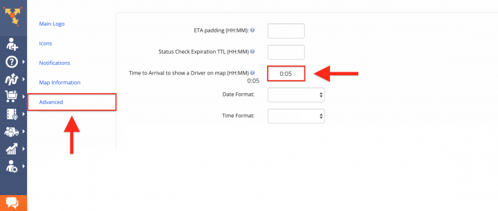 Setting Up Icons for the Order Tracking Portal (Icons for Drivers and Customers)