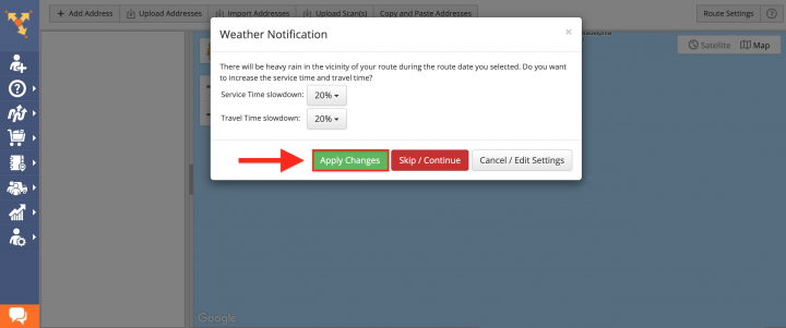 Predictive Weather Advanced Constraint Add-On