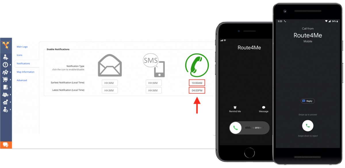 Enabling E-Mail, SMS, and Voice Call Notifications