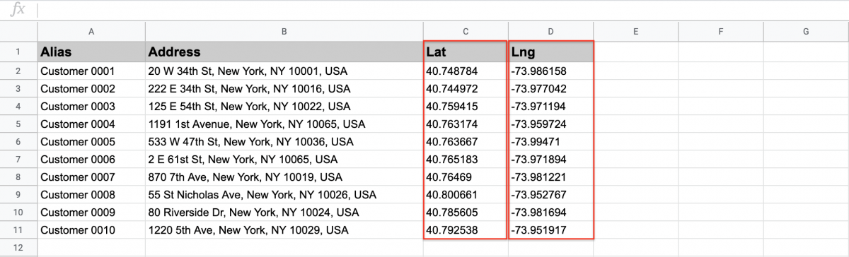 Exported addresses will automatically have latitude and longitude coordinates in the export file.
