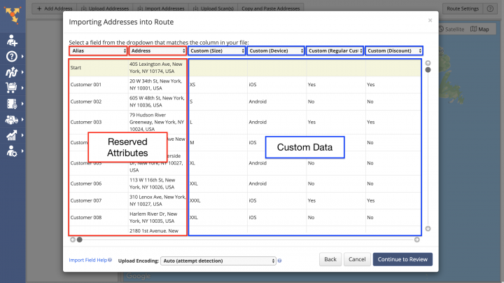 Planning Routes with the Custom Data Add-On