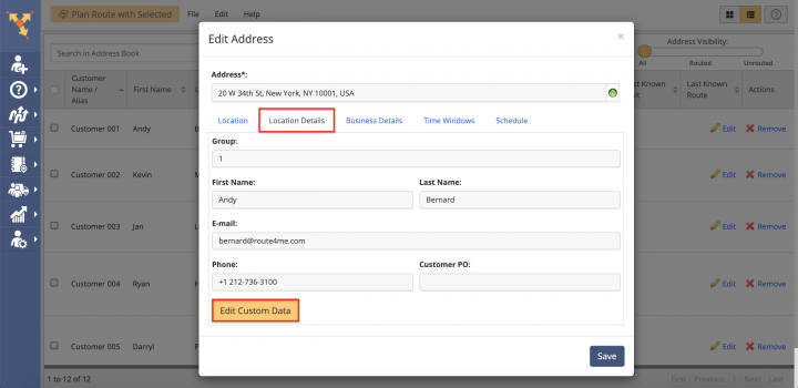 Address Book Custom Data Add-On
