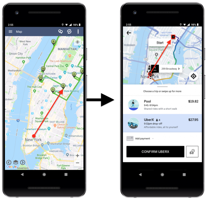 Using Uber for Navigating Route4Me Routes (Android Devices)
