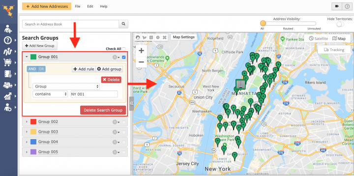 Color Coding Addresses and Setting Icons Override Using Advanced Search Groups