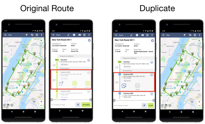 Duplicating Routes - Route4Me's Android Route Planner