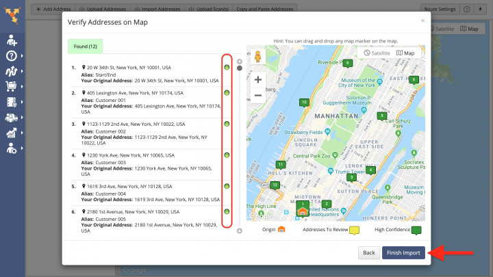 Goggle Drive Data Import - Importing Data from Google Drive for Planning Routes
