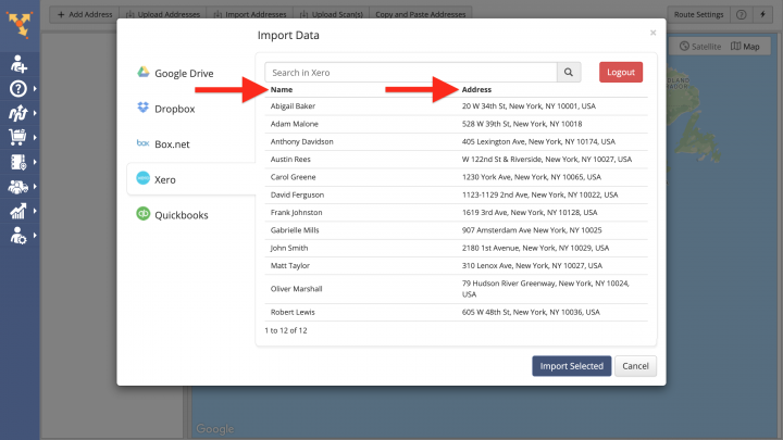 Xero Data Import - Importing Data from Xero for Planning Routes
