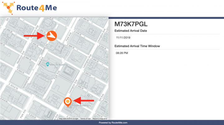 Route4Me Real-Time Order Tracking Portal for Customers