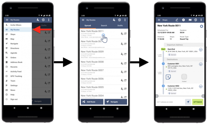 Deleting Stops from Planned Routes - Route4Me's Android Route Planner