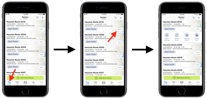 Duplicating Routes Using Route4Me's iPhone Route Planner