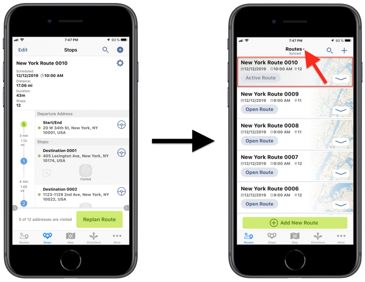 Draft Routes – Managing Draft Routes Using the Route4Me iPhone App