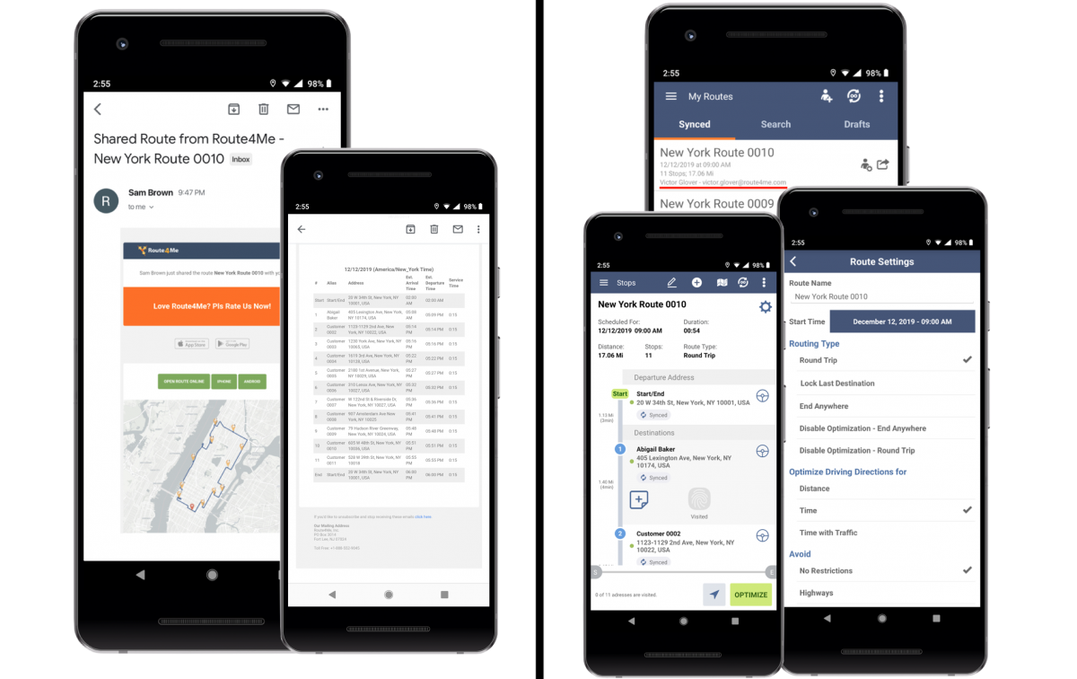 The Difference Between Sharing Routes and Assigning Users to Routes - Route4Me's Android Route Planner