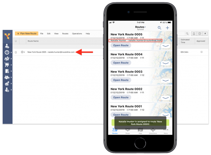 The Difference Between Sharing Routes and Assigning Users to Routes - Route4Me's iPhone Route Planner