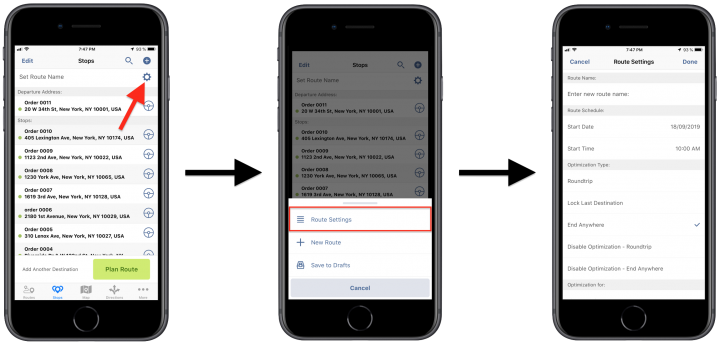 Order Route Planning - Planning Routes with E-Commerce Orders Using Route4Me's iPhone Route Planner