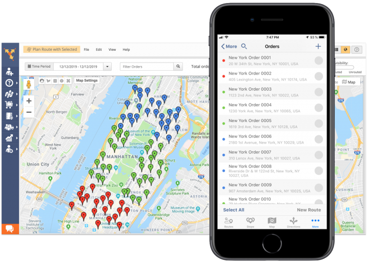 Color-Coding Orders Using Route4Me's iPhone Route Planner
