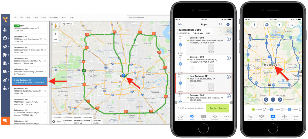 By US ZIP Code - Adding Addresses to Planned Routes with the Rapid Entry System Using Route4Me's iPhone Route Planner