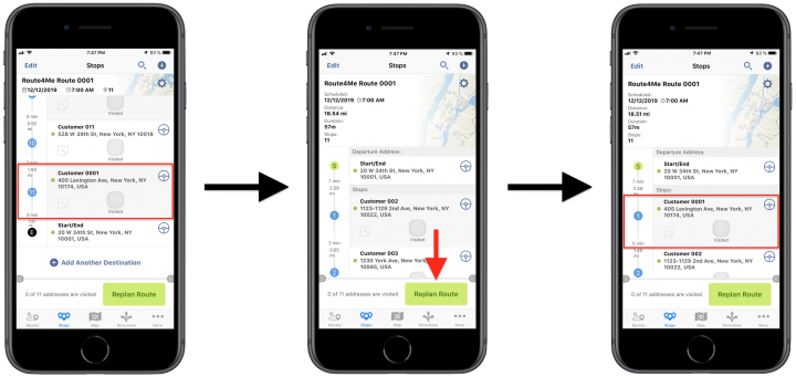 Inserting Address Book Contacts and Addresses into Planned Routes Using the Route4Me iPhone App