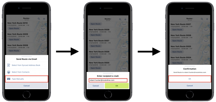 Sharing Routes Using Route4Me's iPhone Route Planner