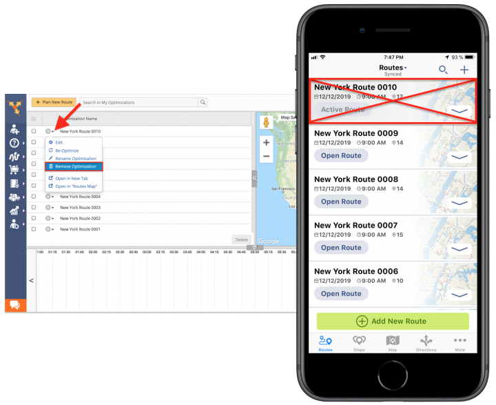 iPhone Route Optimizations – Using the Route4Me Web Platform for Viewing Route Optimizations Created on the Route4Me iPhone App