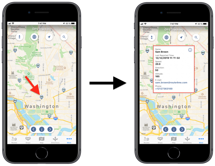 Tracking the Location of Your Team Members in Near Real-Time Using the Route4Me iPhone App (iPhone GPS Tracking)