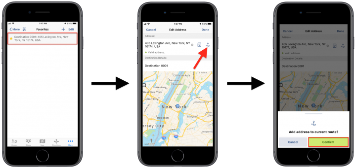 """Inserting """"Favorites"""" Addresses and Contacts into Planned Routes Using the Route4Me iPhone App"""