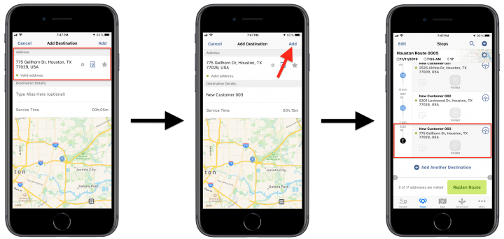 Adding Stops to Planned Routes Using Route4Me's iPhone Route Planner